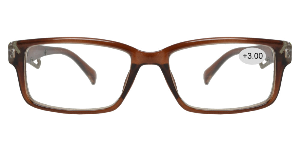 RS 1427 +300 - Plastic Rectangular Reading Glasses
