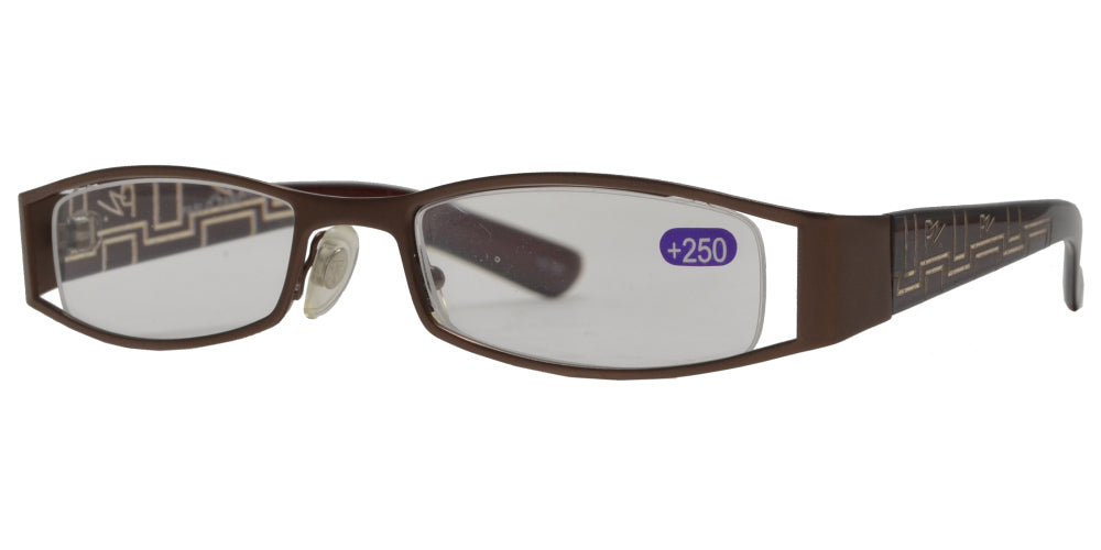 RS 1375 - Metal Rectangular Reading Glasses