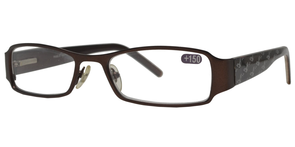 RS 1371 - Metal Rectangular Reading Glasses