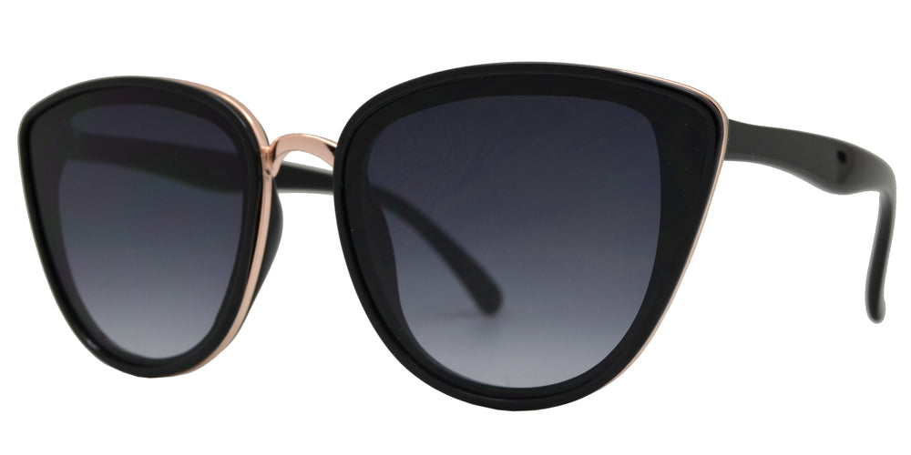 8783 - Women's Cat Eye Flat Lens Sunglasses