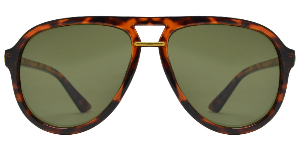 7617 - Retro Aviator Plastic Sunglasses
