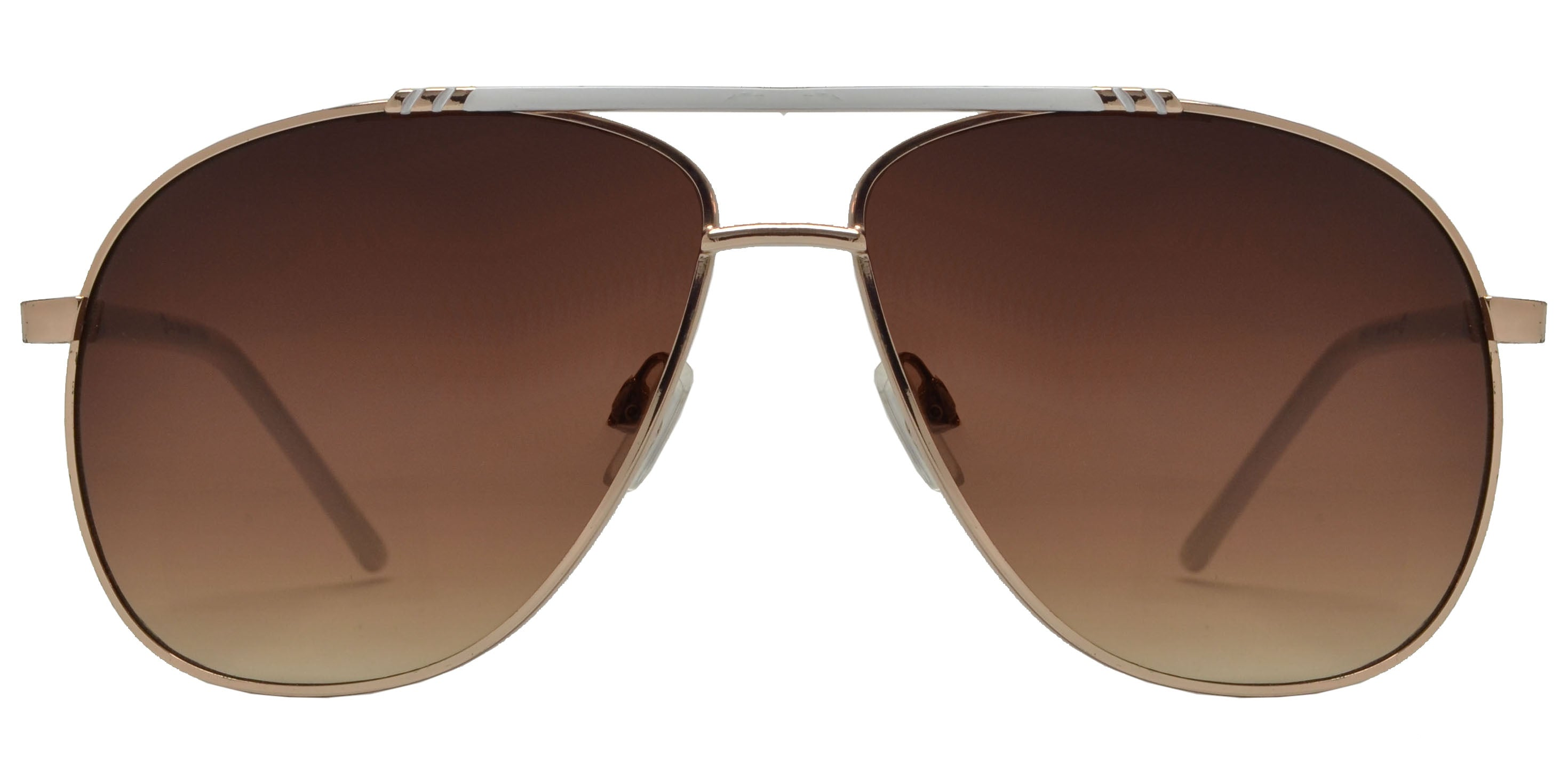 OX 2861 - Classic Aviator with Brow Bar Metal Sunglasses
