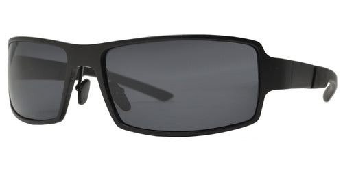 XD PL 257 - Polarized Aluminum-Magnesium Alloy Full Frame Rectangular Sunglasses