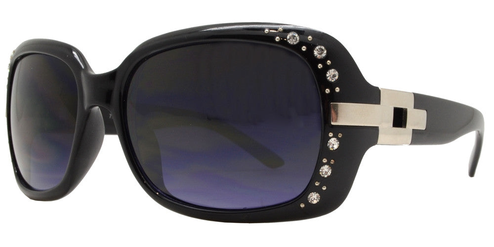 Wholesale - 7585 BX - Womens Fashion Sunglasses with Metal Accent and Rhinestones - Dynasol Eyewear