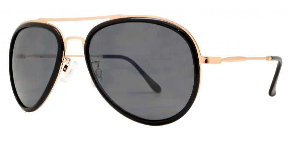Dynasol Eyewear - Wholesale Sunglasses - FC 6313 - Brow Bar Aviator Plastic Sunglasses - sunglasses