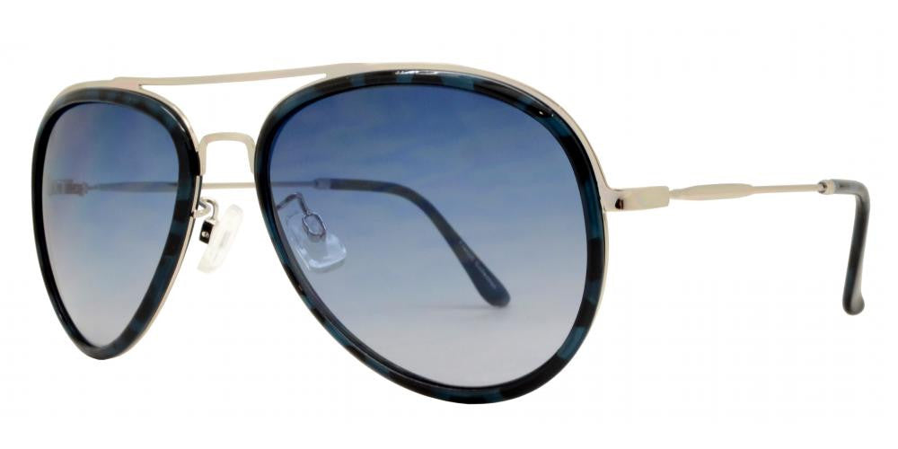 Wholesale - FC 6313 - Brow Bar Aviator Plastic Sunglasses - Dynasol Eyewear