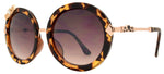 Wholesale - FC 6269 - Round Bow Accent Women Plastic Sunglasses - Dynasol Eyewear