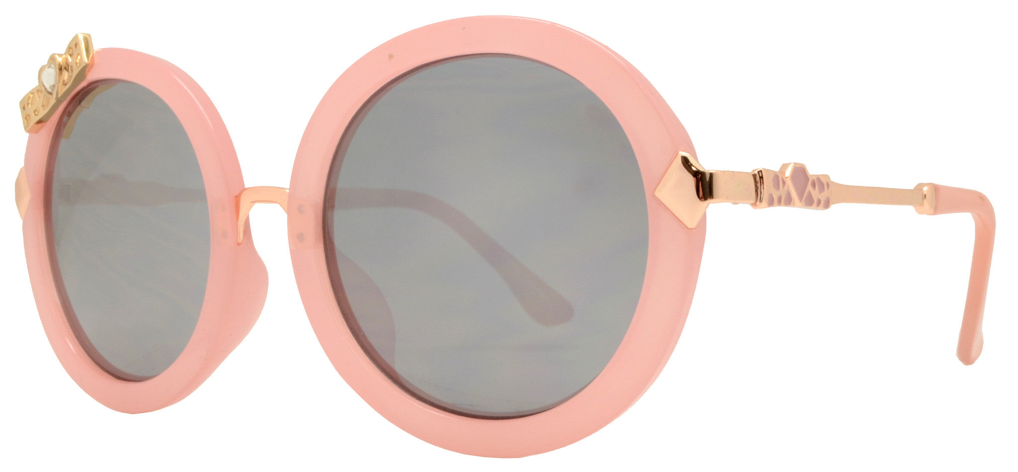 Dynasol Eyewear - Wholesale Sunglasses - FC 6269 - Round Bow Accent Women Plastic Sunglasses - sunglasses