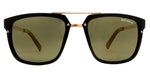 Wholesale - PL Simone - Polarized Men Retro Square with Brow Bar Plastic Sunglasses - Dynasol Eyewear