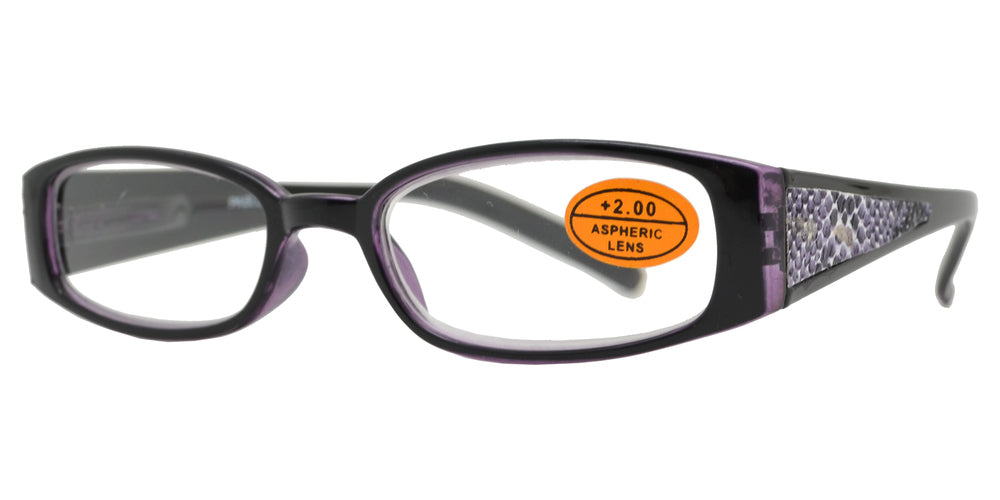 RS 1442 - Rectangular Thick Temple Reading Glasses