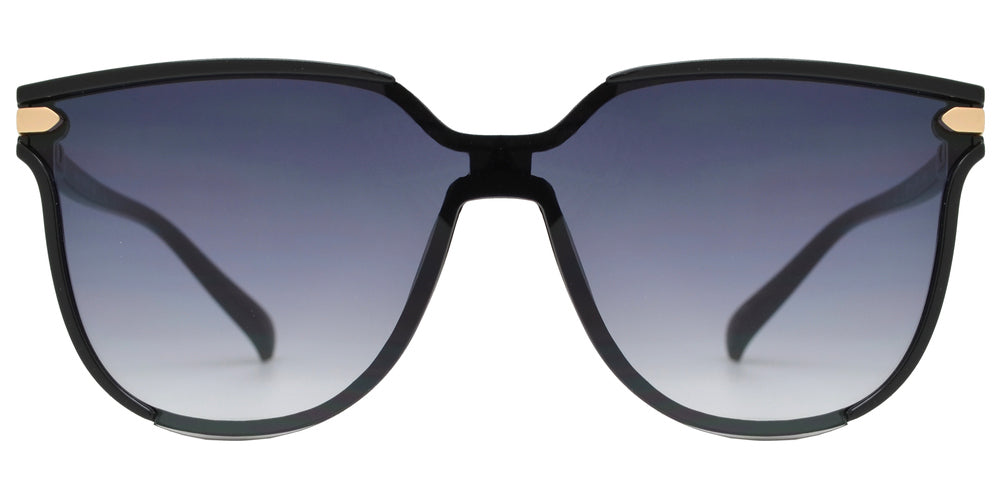 Wholesale - 8868 - Horn Rimmed One Piece Lens Sunglasses - Dynasol Eyewear