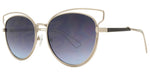 Wholesale - 8727 Cat Eye - Women's Metal Wire Cat Eye Fashion Sunglasses - Dynasol Eyewear