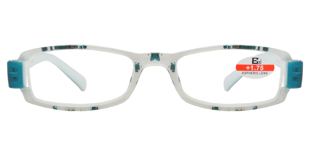 Wholesale - RS 1120 - Rectangular Two Tone Plastic Reading Glasses - Dynasol Eyewear