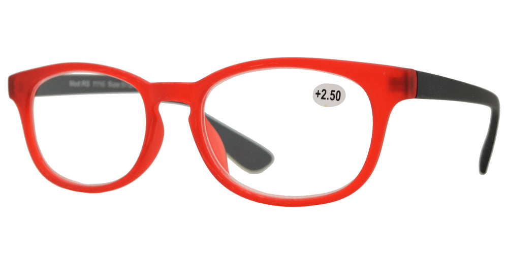 RS 1116 - Round Horn Rimmed with Key Hole Plastic Reading Glasses