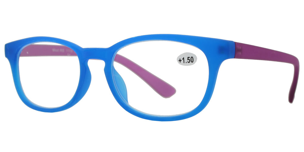 Wholesale - RS 1116 - Round Horn Rimmed with Key Hole Plastic Reading Glasses - Dynasol Eyewear