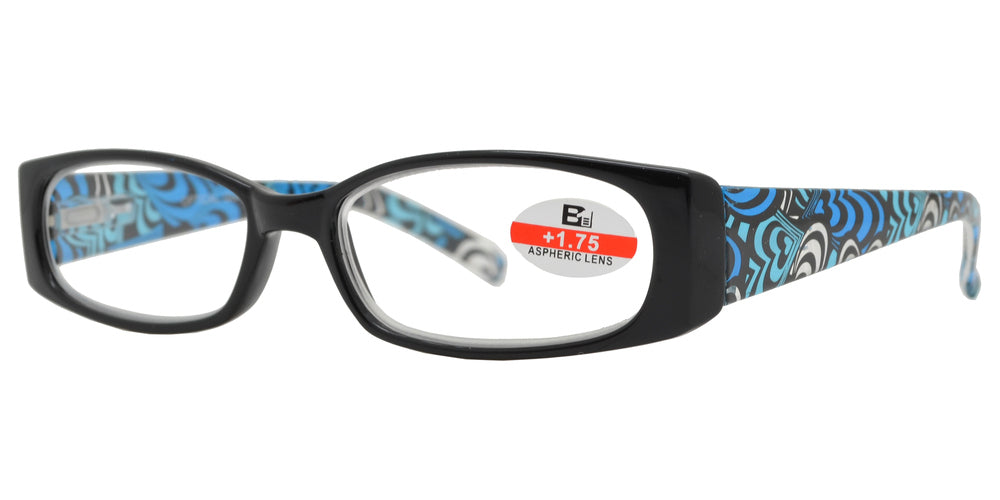 Wholesale - RS 1118 - Rectangular Design Temple Plastic Reading Glasses - Dynasol Eyewear