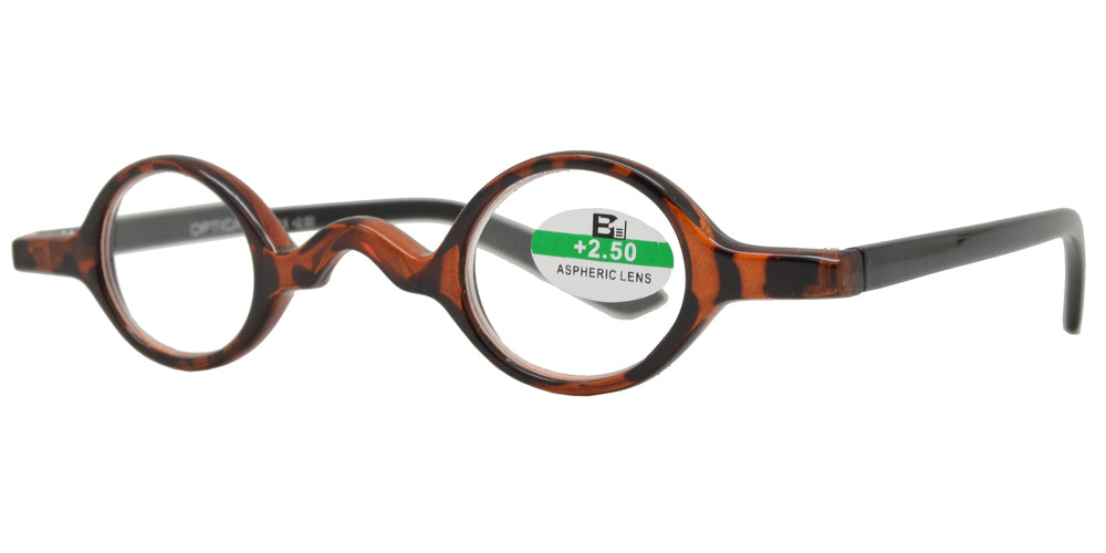 RS 1119 - Small Round Plastic Reading Glasses