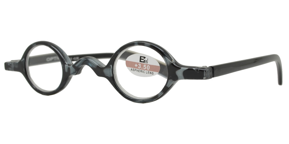 Wholesale - RS 1119 - Small Round Plastic Reading Glasses - Dynasol Eyewear