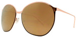 Wholesale - 8546 - Large Plastic Round Sunglasses with Color Mirror Lens - Dynasol Eyewear