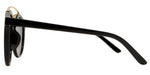 Dynasol Eyewear - Wholesale Sunglasses - 8583 - Round Horn Rimmed Plastic Sunglasses with Brow Bar - sunglasses