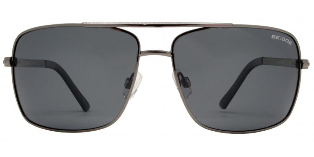 Wholesale - PL 3926 - Polarized Classic Rectangular Aviator Metal Sunglasses - Dynasol Eyewear