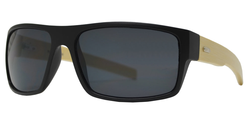 Wholesale - 7993 - Bamboo Sports Rectangular Sunglasses - Dynasol Eyewear