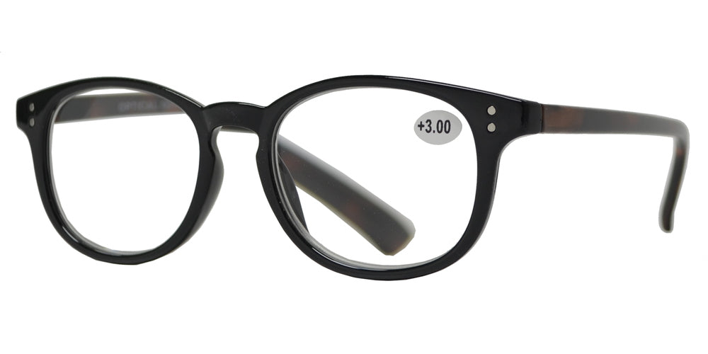 Wholesale - RS 1207 - Plastic Oval Reading Glasses with Spring Hinge - Dynasol Eyewear