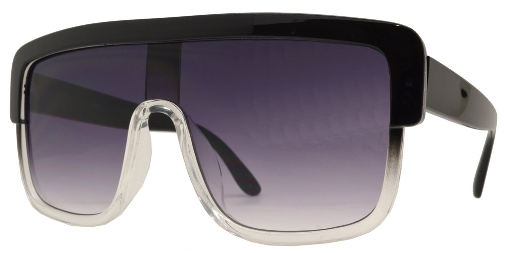8760 - Oversize Plastic Shield Sunglasses