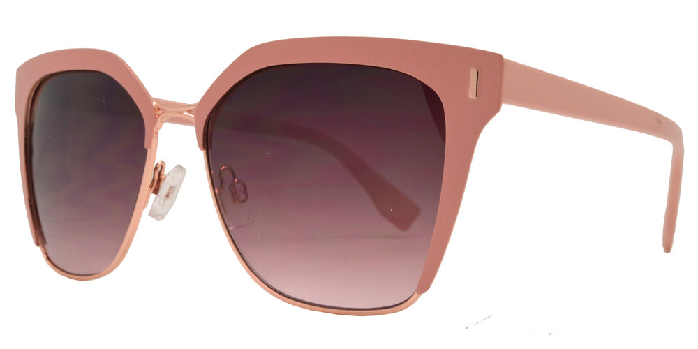 Dynasol Eyewear - Wholesale Sunglasses - FC 6391 - Retro Horn Rimmed Square Women Metal Sunglasses - sunglasses