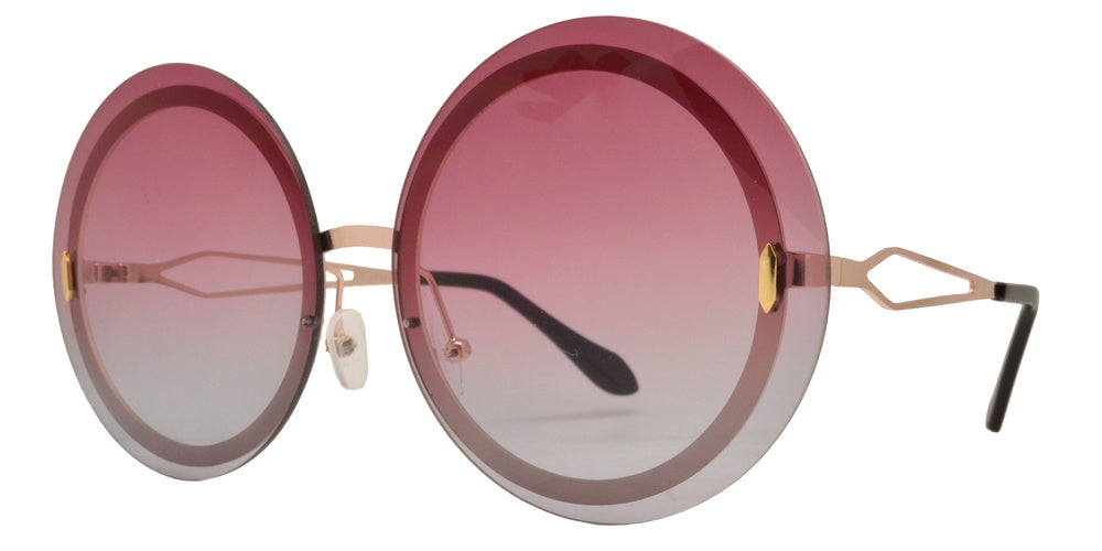 Dynasol Eyewear - Wholesale Sunglasses - 8752 - Rimless Round Metal Sunglasses - sunglasses