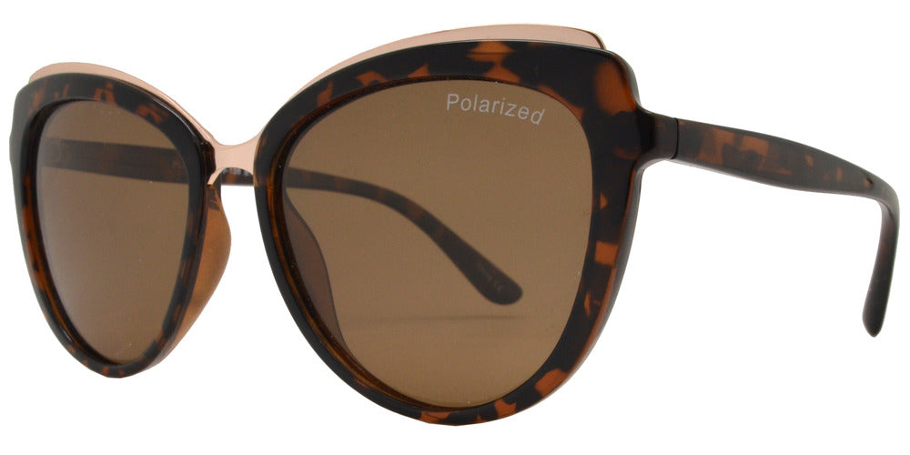 Dynasol Eyewear - Wholesale Sunglasses - PL 3935 - Polarized Women's Plastic Cat Eye Sunglasses - sunglasses