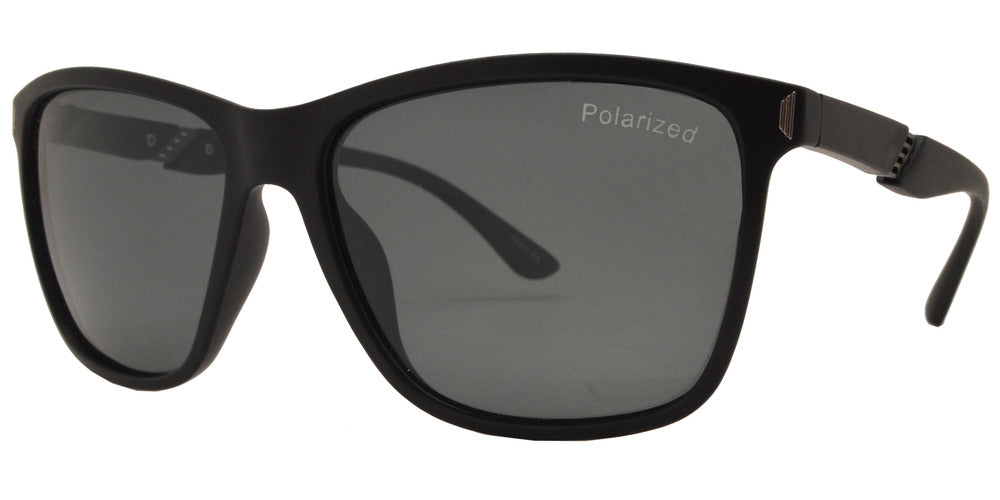 Dynasol Eyewear - Wholesale Sunglasses - PL 3936 - Rectangular Plastic Sunglasses with Polarized Lens - sunglasses