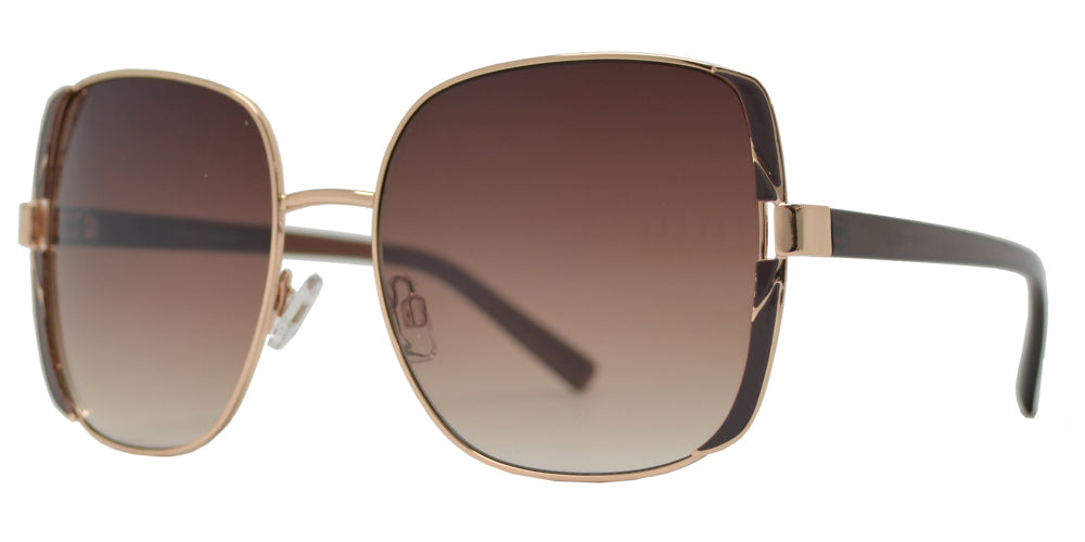 Wholesale - FC 6506 - Large Square Metal Sunglasses - Dynasol Eyewear