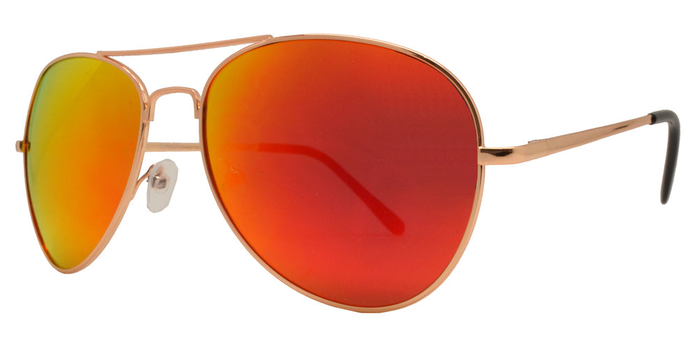 Dynasol Eyewear - Wholesale Sunglasses - 9090 RV - Aviator Sunglasses with Color Mirror Lens - sunglasses