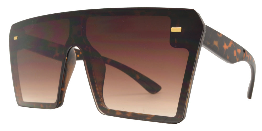 Dynasol Eyewear - Wholesale Sunglasses - 7964 - Oversized Sunglasses with Flat Top and Flat Lens - sunglasses