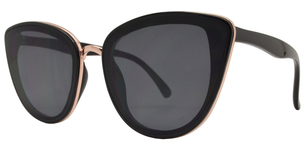 Dynasol Eyewear - Wholesale Sunglasses - 8783 - Women's Cat Eye Flat Lens Sunglasses - sunglasses