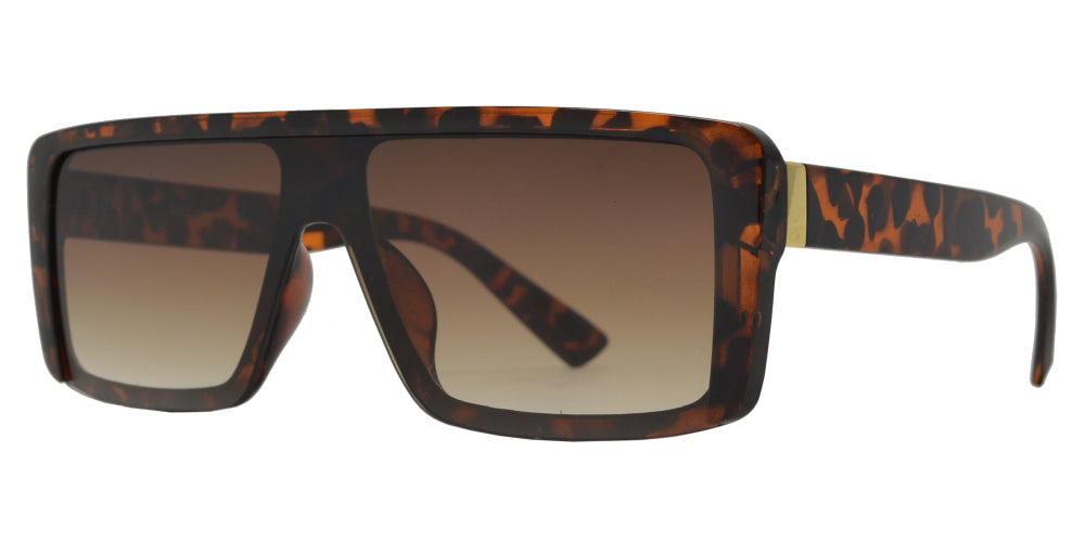 Wholesale - 8882 - Flat Top One Piece Rectangular Sunglasses - Dynasol Eyewear