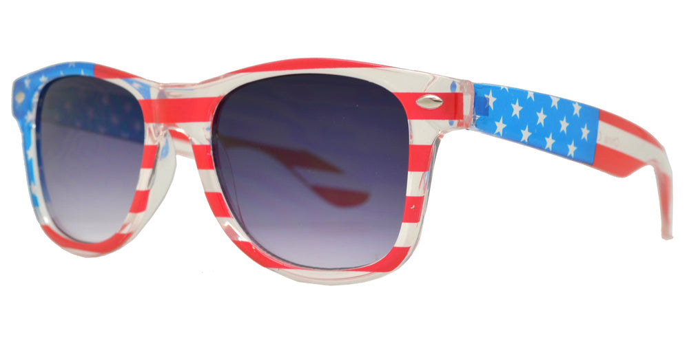 4567 Flag - Kids Classic Horn Rimmed USA Flag Sunglasses