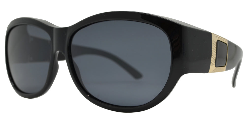 Dynasol Eyewear - Wholesale Sunglasses - PL 7623 - Women's Large Oval Cover Over Polarized Sunglasses - sunglasses