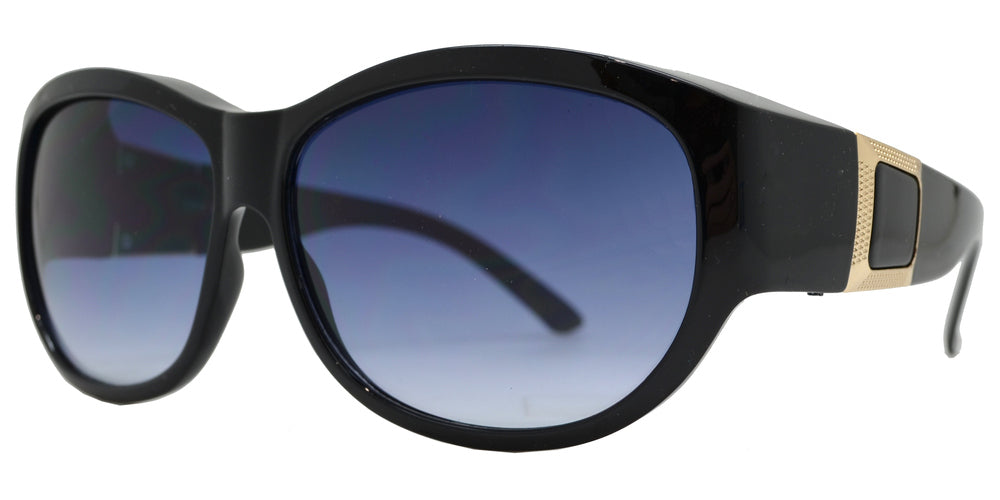 7623 - Women's Large Oval Fit Over Fashion Sunglasses