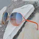 Wholesale - FC 6061 - Butterfly Rhinestone Women Metal Sunglasses - Dynasol Eyewear