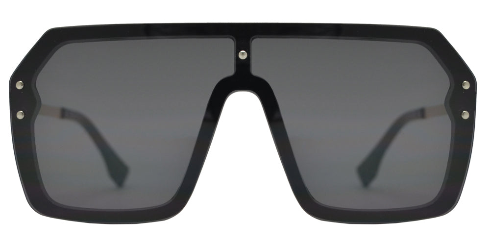 7986 - Rimless Flat Top One Piece Sunglasses