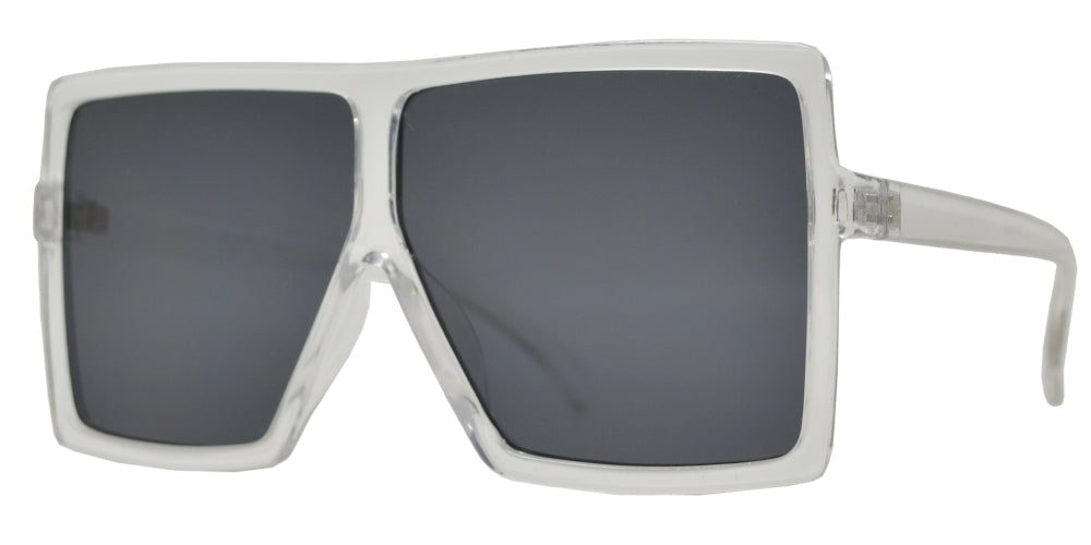 7012 - Oversize Square Flat Top Plastic Sunglasses