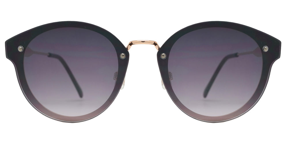 FC 6442 - Round Horn Rimmed Rimless Metal Sunglasses