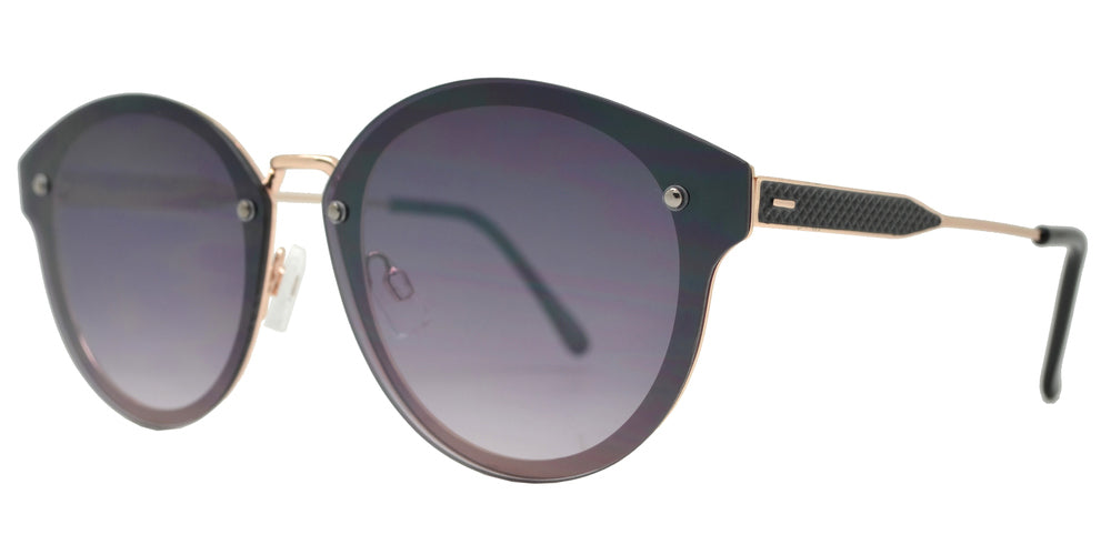 Dynasol Eyewear - Wholesale Sunglasses - FC 6442 - Round Horn Rimmed Rimless Metal Sunglasses - sunglasses