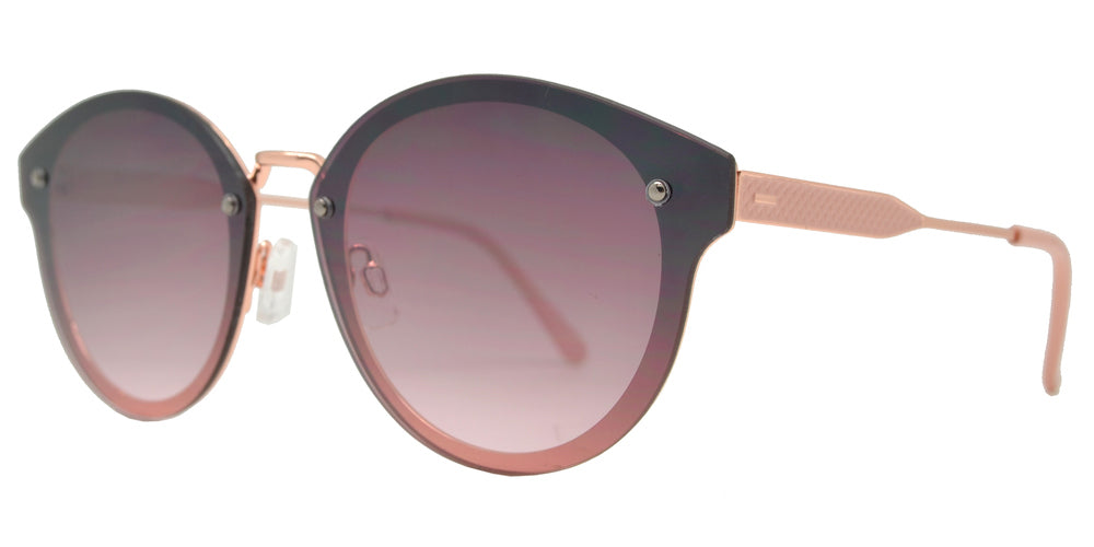 Wholesale - FC 6442 - Round Horn Rimmed Rimless Metal Sunglasses - Dynasol Eyewear
