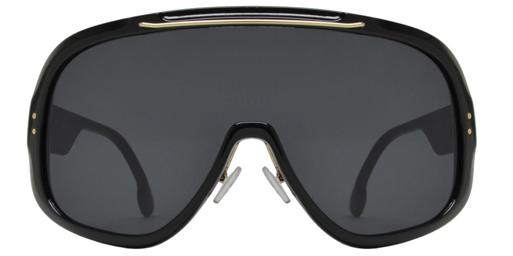 7007 - Oversized One Piece Shield Sunglasses