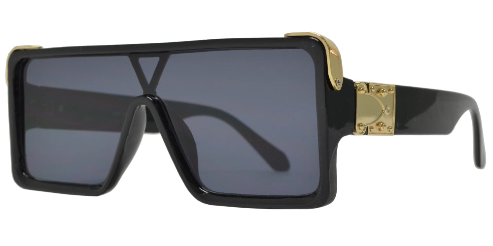 7996 - Flat Top One Piece Flat Lens Fashion Sunglasses