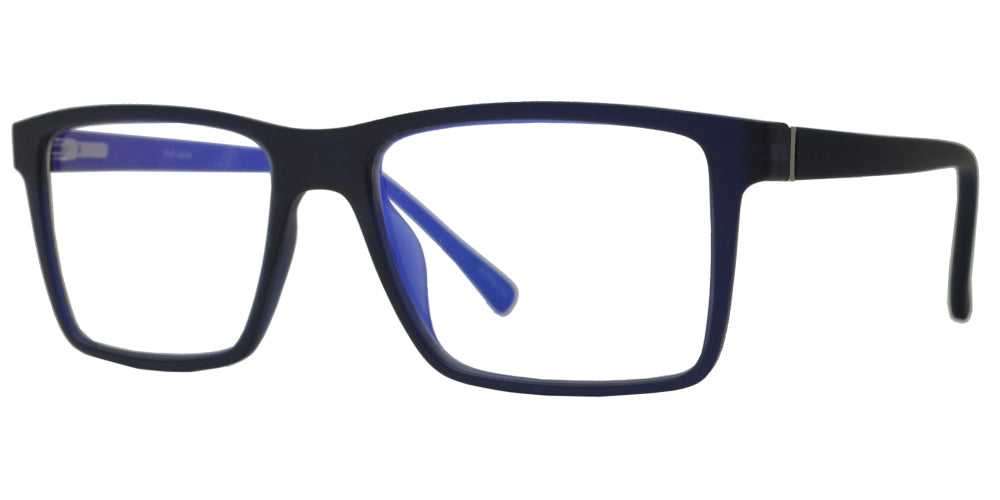 BL 1389 - C1 Matte Blue Rx-able Blue Light Blocking Glasses with Spring Hinge