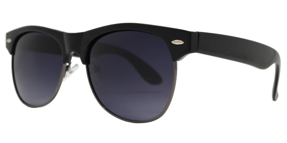 Dynasol Eyewear - Wholesale Sunglasses - PL 7581 PT - Retro Horn Rimmed Polarized Plastic Sunglasses - sunglasses